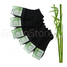 Bambusové ponožky pánské kotníkové, černé 40-43, 6 párů