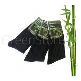 Bambusové ponožky pánské, černé 43-46, 3 páry