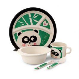 GoEco 5 dílná dětská jídelní sada - panda