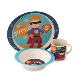 GoEco 3 dílná dětská jídelní sada - super boy