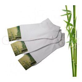 Bambusové ponožky dámské kotníkové, bílé 35-38, 3 páry