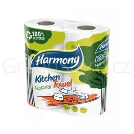 Kuchyňské utěrky z recyklovaného papíru - 2 role Harmasan