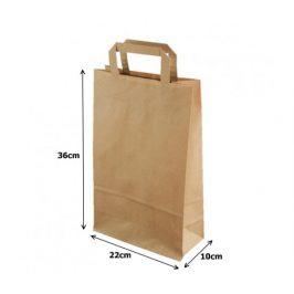 Papírová taška kraft recykl. - 22x10x36cm (250ks)