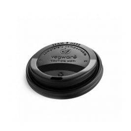 CPLA Černé víčko pro kelímky 300-600ml (50ks) Eco Cups