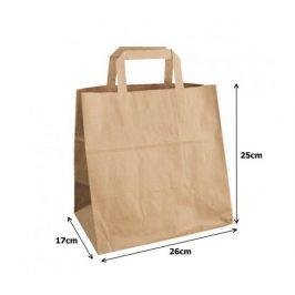 Papírová taška kraft recykl. - 26x17x25cm (250ks)