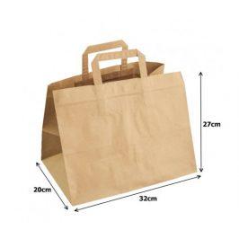Papírová taška kraft recykl. - 32x20x27cm (250ks)