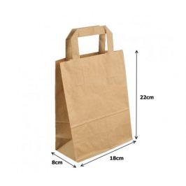 Papírová taška kraft recykl. - 17x9x21cm (500ks)