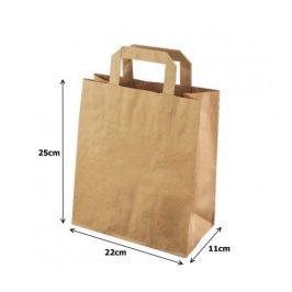 Papírová taška kraft recykl. - 22x11x25cm (250ks)
