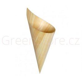 Dřevěný kornout z dýhy 100x195mm (100ks)