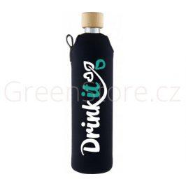 Skleněná láhev s obalem Klasik 500ml Drink it