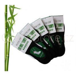 Bambusové ponožky dámské nízké, černé 35-38, 5 párů