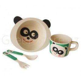 GoEco 4 dílná dětská jídelní sada - panda (doprodej)