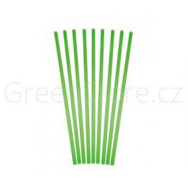 Bioplastová brčka ⌀7mm - zelená (100ks)