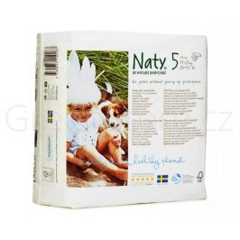 Eko plenky vel.5 (11-25kg) 23ks Naty Nature - posl. 1ks