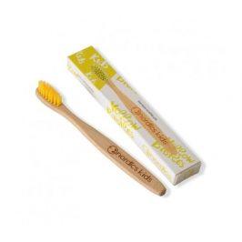 Nordics Dětský bambusový zubní kartáček - žlutý