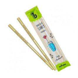 Sada 2ks bambusových brček (papírový obal) Mobake