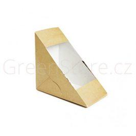 Papírový box na sendviče s PLA okénkem 75mm (500ks)