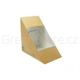 Papírový box na sendviče s PLA okénkem 85mm (500ks)