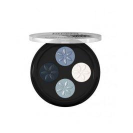 Lavera Minerální oční stíny Quatro 07 Modrá platina 3,2g