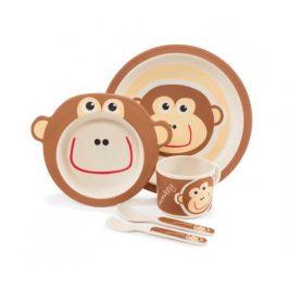 Zopa 5 dílná dětská jídelní sada - opička