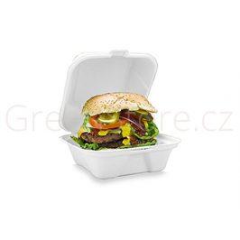 Burger box 15x15x8cm z cukrové třtiny (50ks)