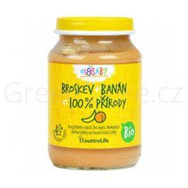 Příkrm broskev, banán 190g BIO Country Life - DOPRODEJ 2ks