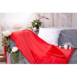 XPOSE ® Deka mikroplyš - červená 150x200 cm