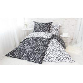 XPOSE ® Bavlněné povlečení ELIZABETH - černá 140x200, 70x90
