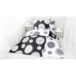XPOSE ® Bavlněné povlečení na dvě lůžka MARILYN DUO - černá 140x200, 70x90