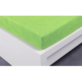XPOSE ® Froté prostěradlo Exclusive dvoulůžko - letní zelená 200x200 cm