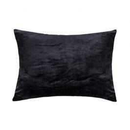 XPOSE ® Mikroplyšový povlak na polštář - černá 50x70 cm