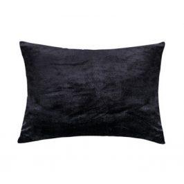 XPOSE ® Mikroplyšový povlak na polštář - černá 70x90 cm