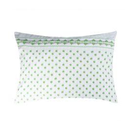 XPOSE ® Krepový povlak na polštář EMA - zelená 70x90 cm