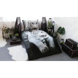XPOSE ® 3D bavlněné povlečení BÍLÝ TYGR 140x200, 70x90