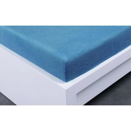 XPOSE ® Froté prostěradlo Exclusive jednolůžko - modrá 90x200 cm