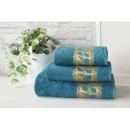 XPOSE ® Bambusový ručník MANILA - petrolejová 50x90 cm