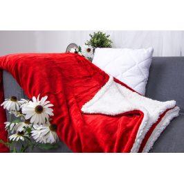 XPOSE ® Deka mikroplyš s beránkem - červená 140x200 cm