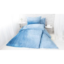 XPOSE ® Francouzské povlečení mikroplyš JORGA - nová modrá 200x240, 70x90