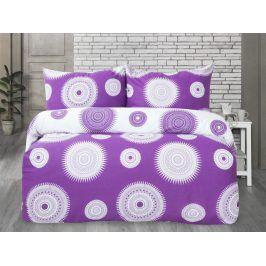 XPOSE ® Francouzské bavlněné povlečení MARILYN DUO - fialová 200x220, 70x90
