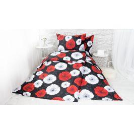 XPOSE ® Bavlněné povlečení na dvě lůžka LILI - červená 140x200, 70x90