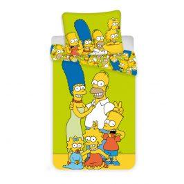Jerry Fabrics povlečení bavlna Simpsons yellow green 140x200 70x90