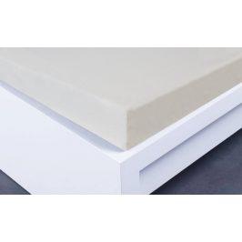 Molton prostěradlo jednolůžko - smetanová 90-100x200 cm