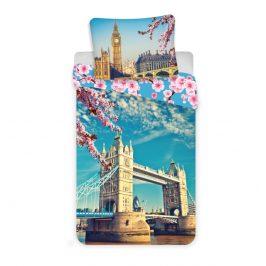 Jerry Fabrics Povlečení Londýn blue bavlna 140x200 70x90