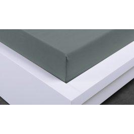 XPOSE ® Jersey prostěradlo polybavlna dvoulůžko - tmavě šedá 180x200 cm
