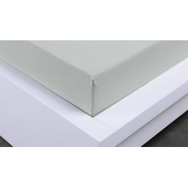 XPOSE ® Jersey prostěradlo Exclusive jednolůžko - světle šedá 90x200 cm
