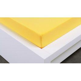 XPOSE ® Jersey prostěradlo jednolůžko - žlutá  90x200 cm