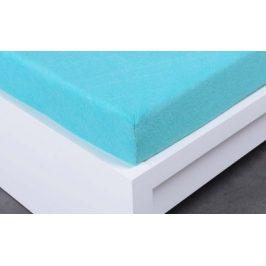 XPOSE ® Froté prostěradlo Exclusive dvoulůžko - azurová 160x200 cm