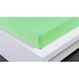 XPOSE ® Jersey prostěradlo Exclusive jednolůžko - světle zelená 90x200 cm