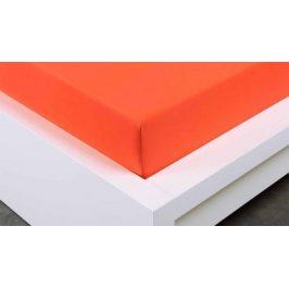 XPOSE ® Jersey prostěradlo Exclusive jednolůžko - tmavě oranžová 90x200 cm