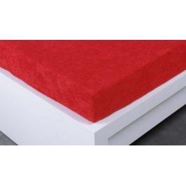 XPOSE ® Froté prostěradlo Exclusive dvoulůžko - tmavě červená 200x220 cm